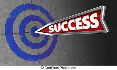 céltábla, siker, fal, ábra, nyíl, 3