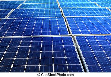 célula, bateria, solar