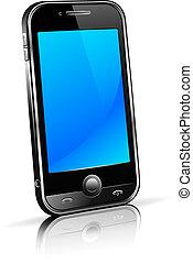 célula, esperto, telefone móvel, 3d