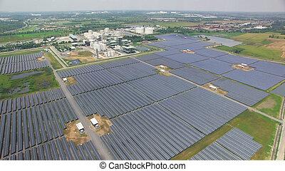 célula, granja, solar