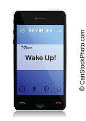 célula, mensagem, acorde-se