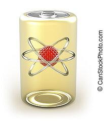 célula, nuclear, energía alternativa