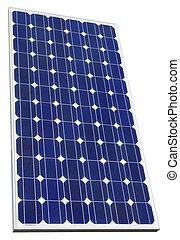 célula, photovoltaic, cutout, solar