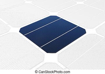célula, solar, contra, desenho