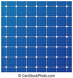 célula, vetorial, solar, padrão