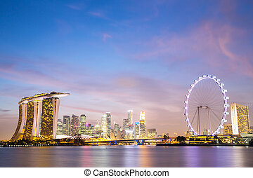 céntrico, ciudad, singapur