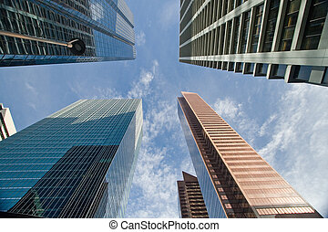 céntrico, edificio, oficina