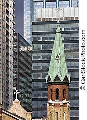 céntrico, iglesia, chicago