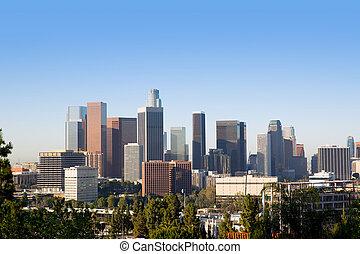 céntrico, la, angeles, los, contorno, california