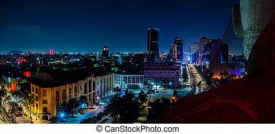 céntrico, perfil de ciudad, méxico