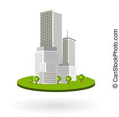 céntrico, rascacielos