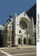 céntrico, tampa, iglesia