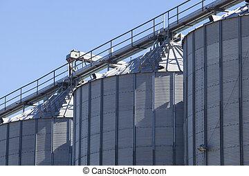 céréales, stockage, produits, réservoirs