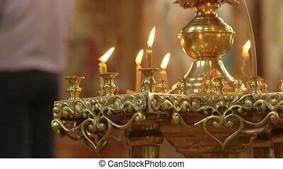 cérémonie, chrétien, église orthodoxe, mariage traditionnel, russe