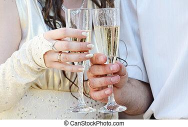cérémonie, jour ensoleillé, mariage