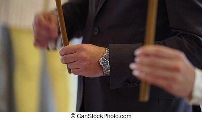 cérémonie, mariage, église
