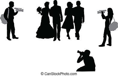 cérémonie, photographier, mariage