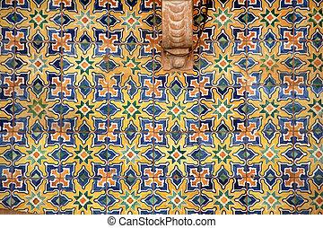céramique, azulejo, portugais, tuiles