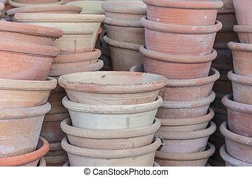 céramique, pots