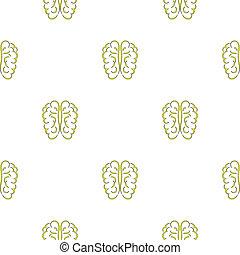 cérebro, ícone,  seamless,  human, Padrão
