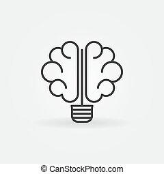 cérebro, bulbo, ícone