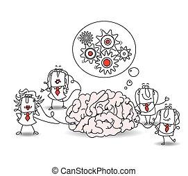 cérebro, equipe negócio