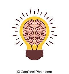 cérebro, human, ícone