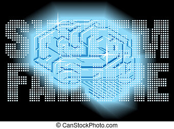cérebro, humano, fracasso sistema