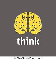 cérebro, logotipo