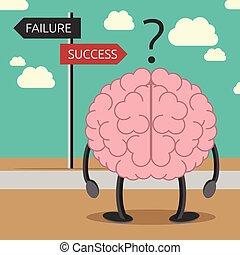 cérebro, personagem, escolher, maneira