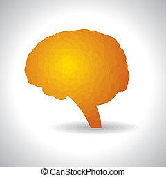 cérebro, Símbolo, mente, abstratos, ou