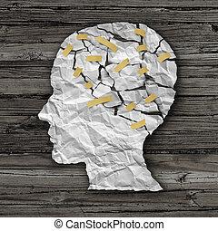 cérebro, terapia, doença
