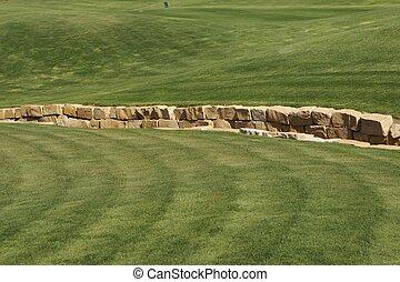 césped del golf, pasto o césped