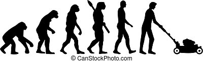 césped, evolución, cortacéspedes