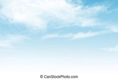 céu azul, com, clouds., vetorial, experiência.