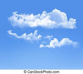 céu azul, com, clouds., vetorial, fundo