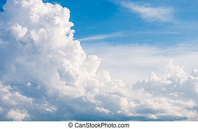 céu azul, com, nuvem, fundo