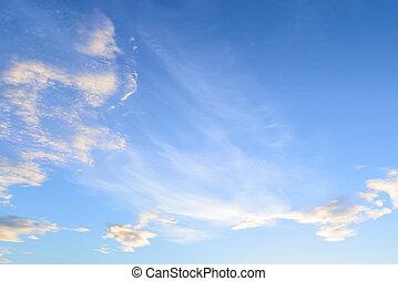 céu azul, e, clouds.