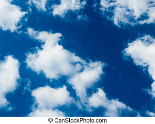 céu azul, e, nuvens