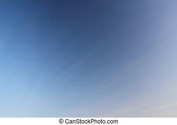 céu azul, experiência.