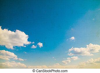 céu azul, fundo