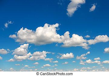 céu azul, macio, nuvens, fundo