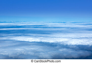 céu azul, mar, de, nuvens, em, ilhas canário