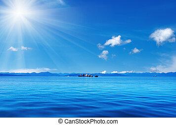 céu azul, oceânicos