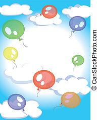 céu, balões