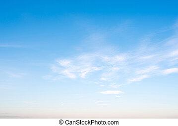 céu claro, e, nuvens