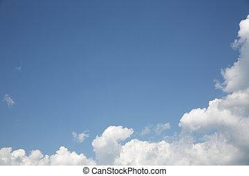 céu, com, nuvem, fundo