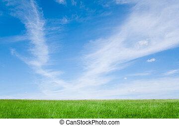 céu, com, nuvens