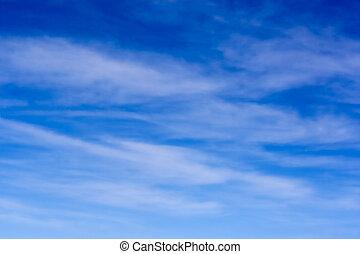 céu, e, cirrus, nuvens
