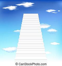céu, escadaria